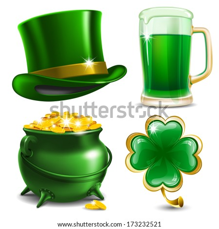 set of st patrick's day