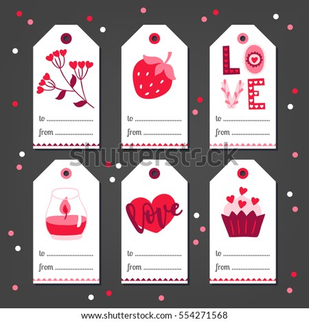 set of st valentine's day gift