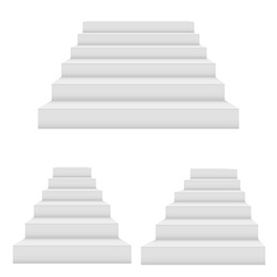 Set of stairs isolated. vector illustration