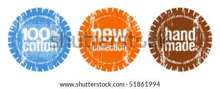set of stamps for a new collection of clothes - stock vector