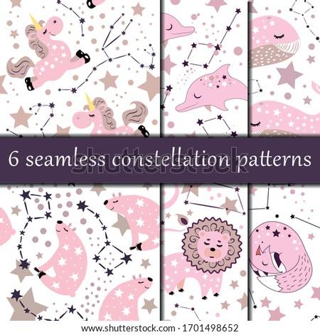 set of 6 star constellation