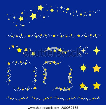 set of star decoration   vector