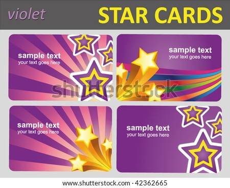 set of star gift and bonus cards