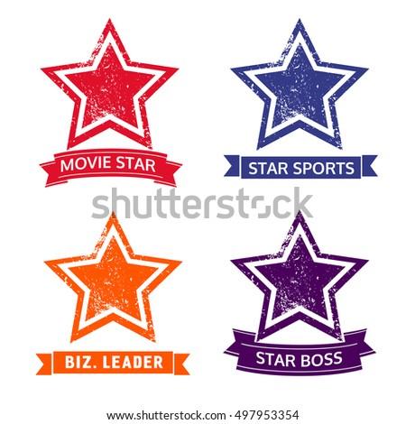 set of star icons logo