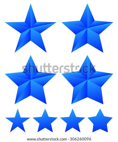 set of star shapes with