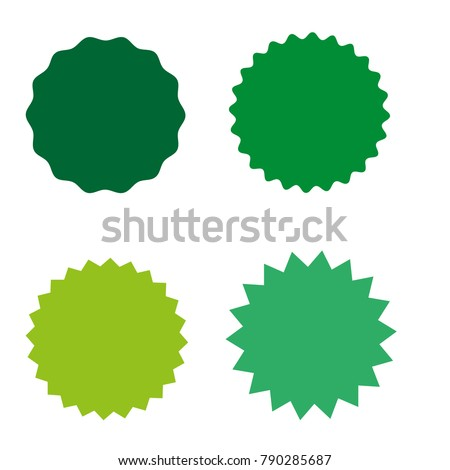 Set of starburst, sunburst badges, labels, stickers. Simple flat style. Vintage, retro. Design elements. A collection of different types icon. Vector illustration #790285687