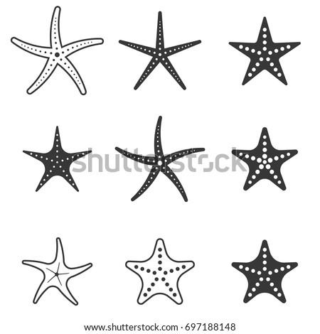 set of starfish icon
