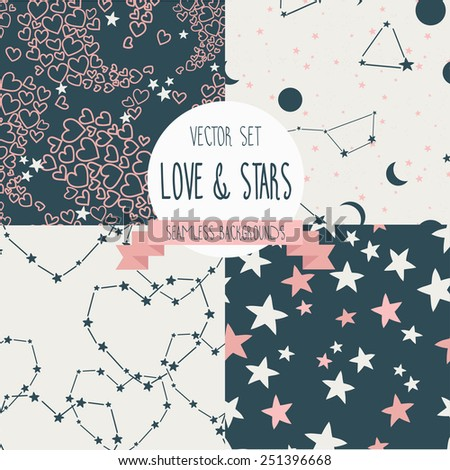 set of starry and lovely