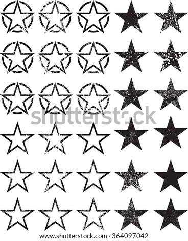 set of stars  vector star