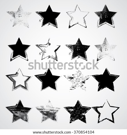 set of stars  vector stars