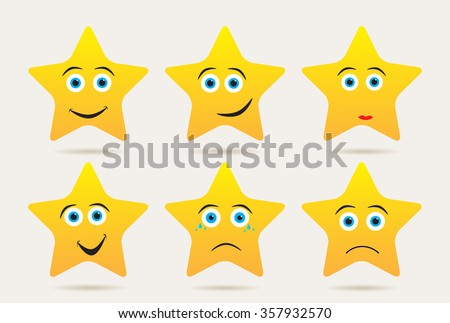 set of stars with different