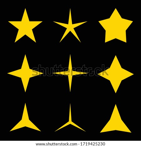set of stars with various