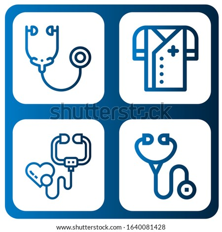 Set of stethoscope icons. Such as Stethoscope, Doctor , stethoscope icons