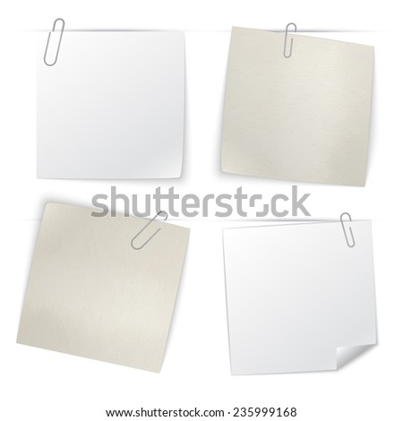set of stick notes  vector