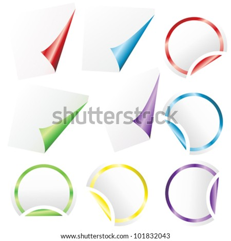 Set of stickers - stock vector