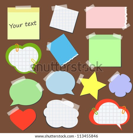 Set of stickers and  reminders in different styles - stock vector