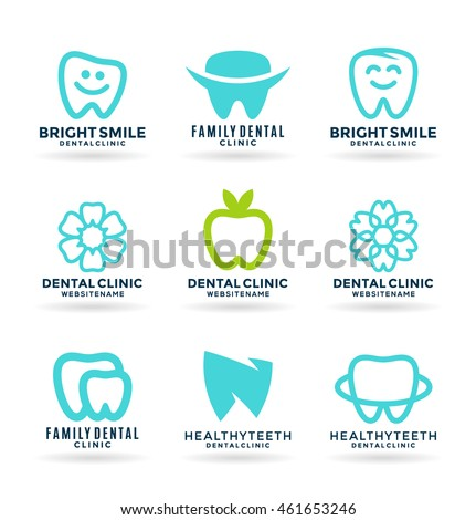 set of stomatology symbols and