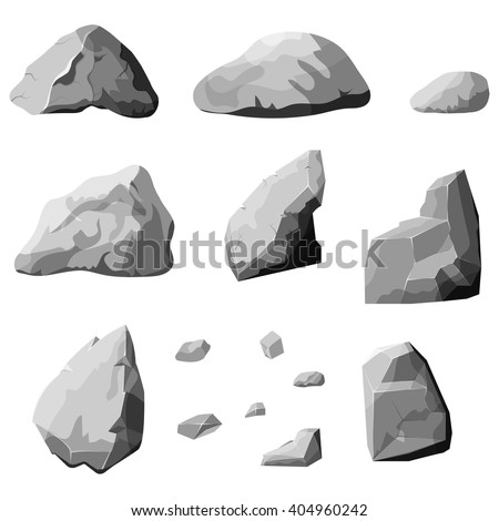 set of stones  rock elements