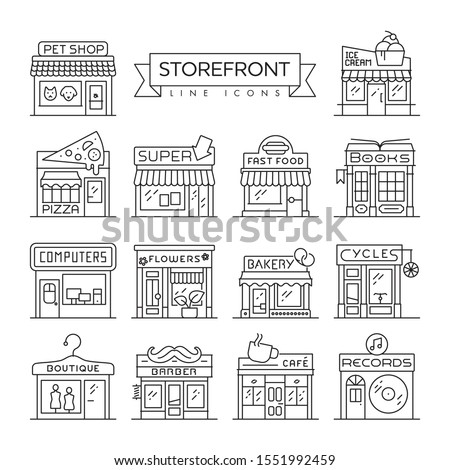 set of 14 storefronts like