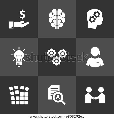 Set Of 9 Strategy Icons Set.Collection Of Meeting, Startup Building, Sponsor And Other Elements.