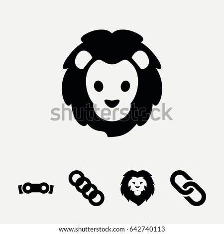 set of 5 strength filled icons