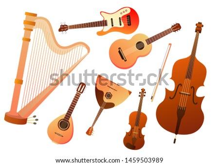 Flat Music Instrument Vectors - Download Free Vectors