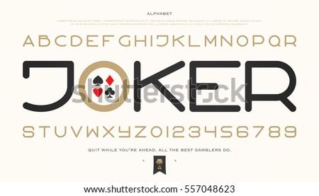 set of stylish alphabet letters