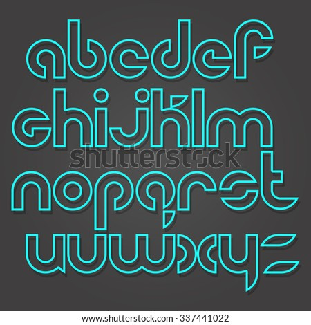 set of stylish alphabet letters