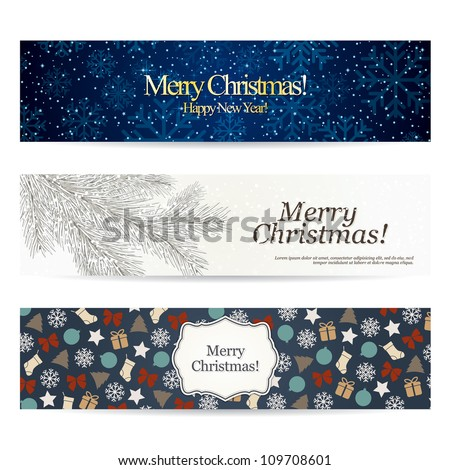 Set of stylish Christmas banners