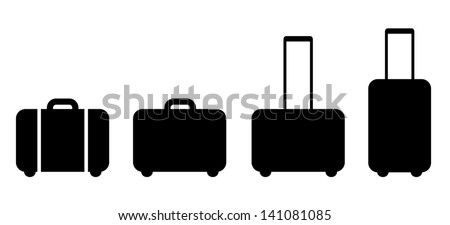 Set of suitcase icon