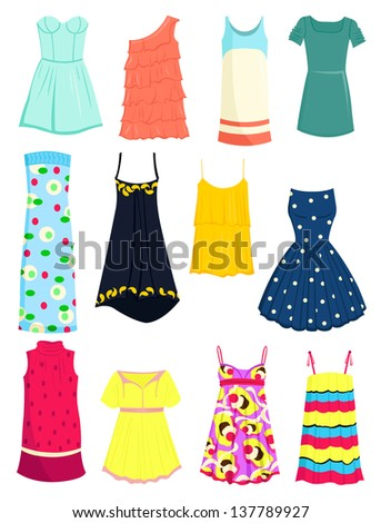 set of summer dresses and