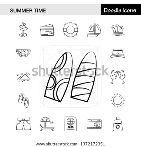 set of 17 summer time hand