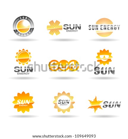 Set of sun icons. Second set.