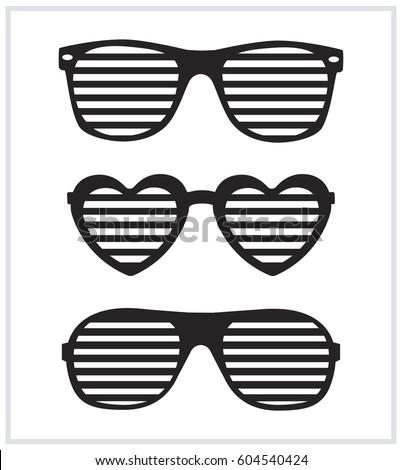 set of sunglasses background