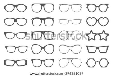 set of sunglasses frames