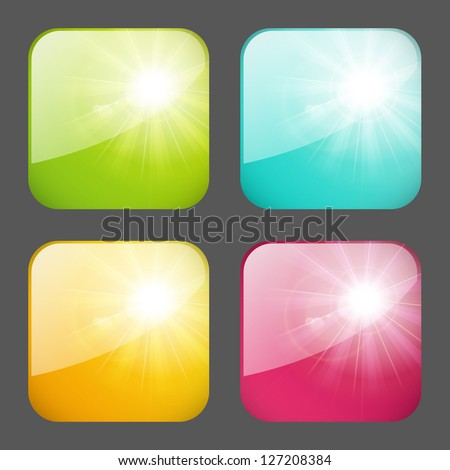 Set of sunny apps icons