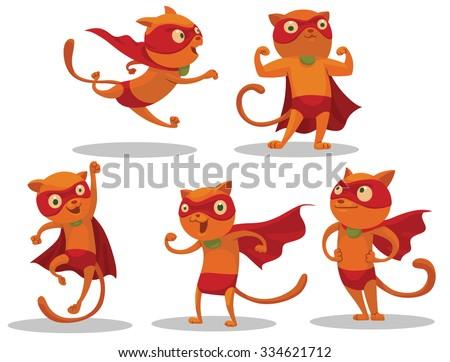 set of superhero cats who looks