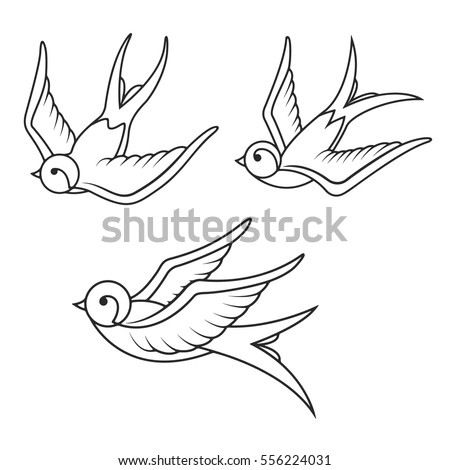 stock-vector-set-of-swallow-tattoo-templates-isolated-on-white-background-bird-icons-vector-illustration