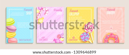 set of sweet  candy and bakery