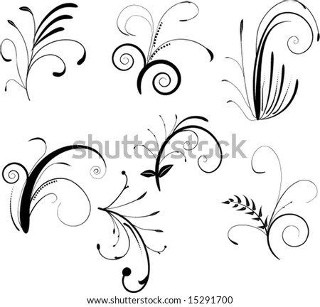 swirl. symbol. tattoo. vector