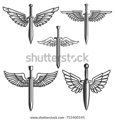 set of swords with wings