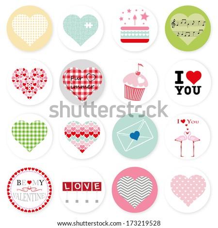 Set of symbol heart