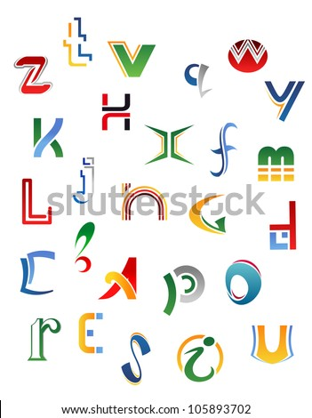 set of symbols  letters and