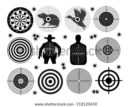 set of targets shoot gun aim