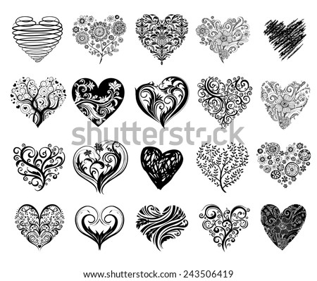 heart with scrolls
