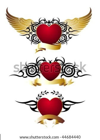 tattoo hearts with wings