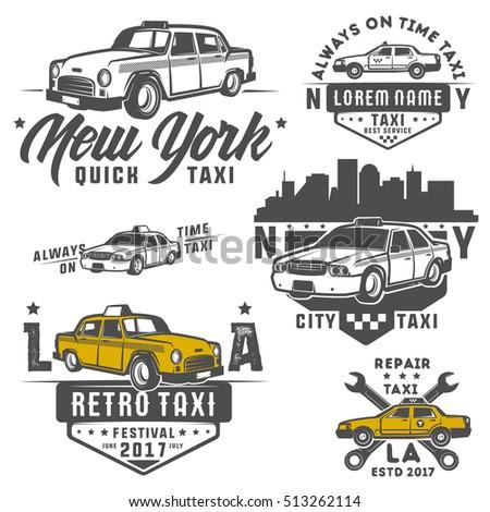 set of taxi car for emblems...