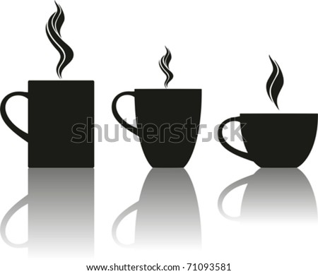 set of tea and coffee cups