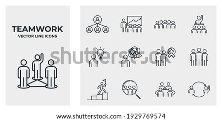 Set of Team Work icon. team building, work group and human resources pack symbol template for graphic and web design collection logo vector illustration Stock photo ©