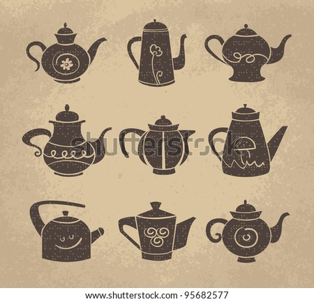 Set of teapot